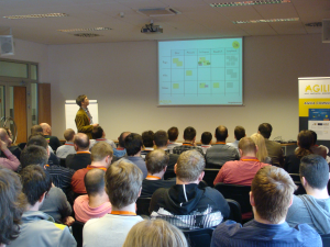 Pełna sala uczestników jednej z sesji na konferencji Agilia2014