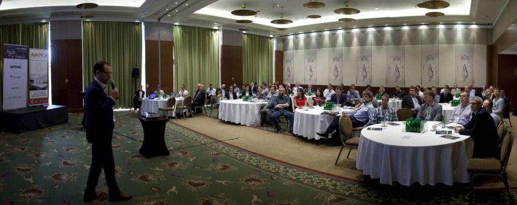 Agile w Biznesie 2016 - widok na salę w czasie prelekcji