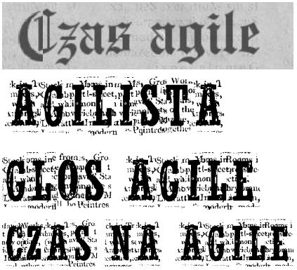 Alternatywne, nie wybrane ostatecznie nazwy agile247 oraz propozycje logotypów.